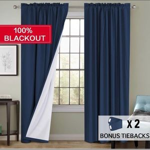 Flamingo P Navy blackout Curtains